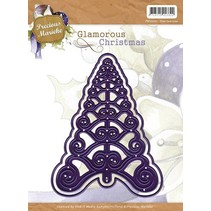 Stamping and Embossing stencil, christmas tree, Glamorous Christmas