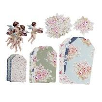 Smukke Tilda Papir Tags Maleri blomster ... fantastisk!