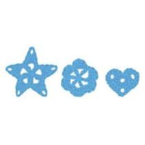 Estampage et Pochoir gaufrage, Marianne Design, Motif: Fleurs gehäckelte