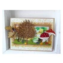 Estampage et Pochoir gaufrage, Marianne Design, Design: arbre aperçu Arbre +