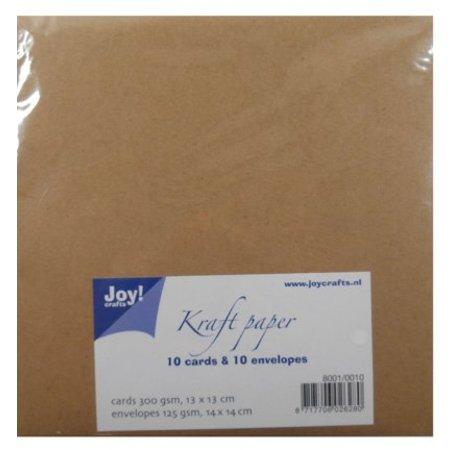 KARTEN und Zubehör / Cards papel kraft - Mapa 13x13 / 14x14 cm envolvente