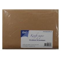 Kraft Papier - Karte 10,4x15,2 / Umschlag C6