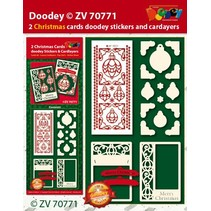 Bastelset con diseños de tarjetas y etiqueta en relieve