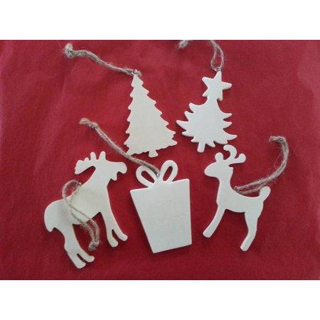Objekten zum Dekorieren / objects for decorating 5 motifs différents de Noël en bois + 1 traîneau en bois EXTRA!