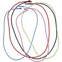 5 Collier, élastique, en 5 couleurs différentes