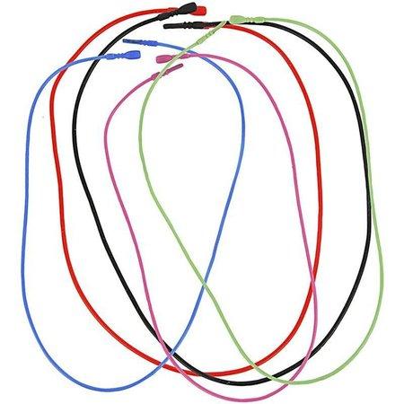 BASTELZUBEHÖR / CRAFT ACCESSORIES 5 Collier, élastique, en 5 couleurs différentes