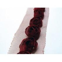 Fleurons sur tulband, rouge foncé