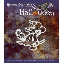 "Punching and embossing mask, Halloween ""a witch"""