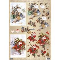 1 Deluxe hojas cortadas Die: hojas de corte Die 3D Santas nostálgicos / Vintage