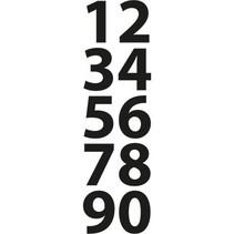 Skæring og prægning stencils, små tal