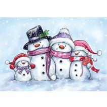 Transparent Stempel, bonhommes de neige mignon