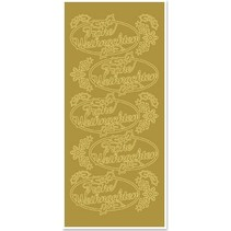 Sticker, Merry Christmas, gold