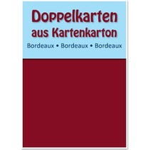 10 double cards A6, claret, 250 g / sqm