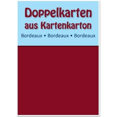 KARTEN und Zubehör / Cards 10 double cards A6, claret, 250 g / sqm