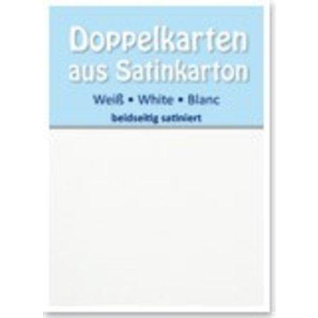 KARTEN und Zubehör / Cards 5 cartes doubles A6 en satin, des deux côtés satin