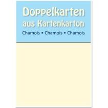 10 Satin-Doppelkarten A6, Chamois