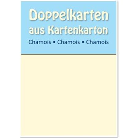 KARTEN und Zubehör / Cards 10 satén tarjetas dobles A6, Chamois