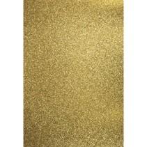 A4 håndværk karton: glitter, guld