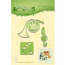 Corte y estampado en relieve plantillas Lea'bilitie, instrumento musical y partituras