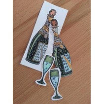Transparent stamps, Doodle Champagne