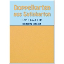 10 Satin double cards A6, gold, satin on both sides