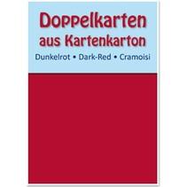 10 tarjetas dobles A6, rojo oscuro, 250 g / m²
