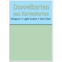 10 Doppelkarten A6, hellgrün, 250 g / qm