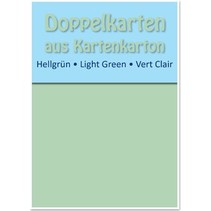 10 double cards A6, light green, 250 g / sqm