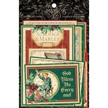 NEW Graphic 45 A Christmas Carol Ephemera Cards