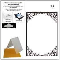 A4 embossing folders: oval frame