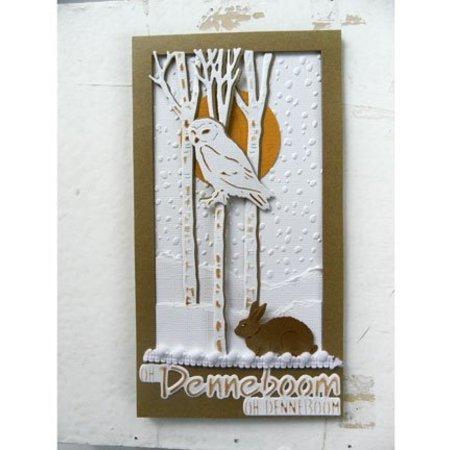 Marianne Design Corte y estampado en relieve plantillas, de pequeños animales, la ardilla y el conejo