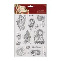 A5 Precision Stamp Set, victorianske jul - Angel