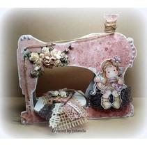 Objetos para la decoración, la máquina de coser