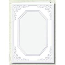 5 Passepartoutkarten mit achteckigem Ausschnitt, weiß