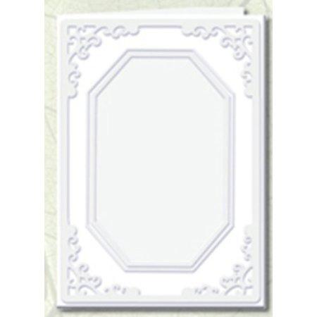 KARTEN und Zubehör / Cards 5 cartes Passepartout découpe octogonale, blanc