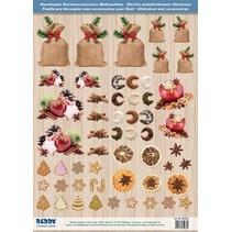 Die cut ark med Weihnachtsgebaeck, bagte æbler fra 250 g karton, A4-format - Copy