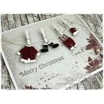 Estampage et gaufrage pochoir, des vêtements du Père Noël