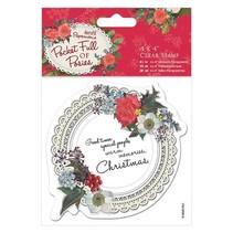 Transparent stamps, doily label