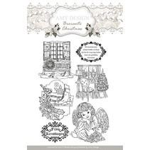 Gennemsigtige frimærker, Amy design, julemotiver og engel