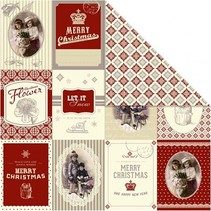 Papier Designer 30,5 x 30,5 cm, motifs de Noël