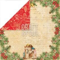 """Designer paper 30.5 x 30.5 cm, Christmas """"Christmas Story 2 '"""