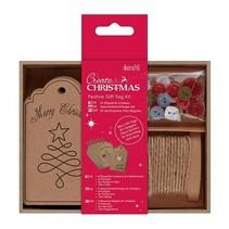 Bastelset para el diseño de etiquetas de regalo de Navidad