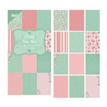 """Diseñador Papel Bloque 15 x 30 cm, """"Floral (verde)"""""""