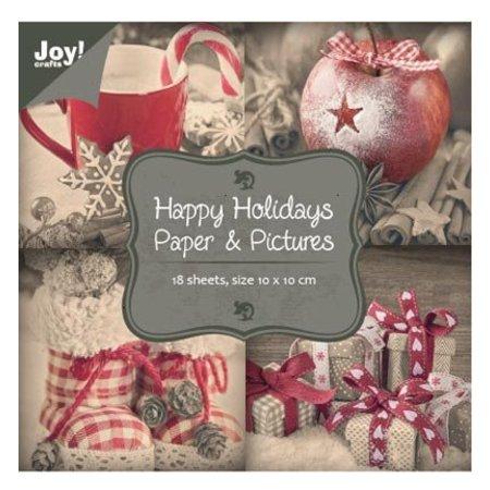 """Joy!Crafts und JM Creation Bloques de papel de 10 x 10 cm, """"buenas fiestas"""""""