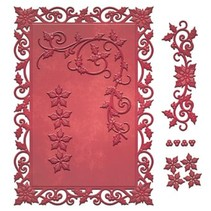 Stamping and Embossing stencil, Christmas motifs
