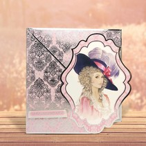"""Deluxe Bastelset with A4 punched arches, many great pictures and Luxury Designer cardboard """"My Fair Lady"""""""
