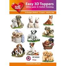 3D motifs de poinçonnage Bastelset: «chiens», 1 jeu = 10 motifs différents 3D!