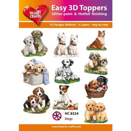 BILDER / PICTURES: Studio Light, Staf Wesenbeek, Willem Haenraets 3D motifs de poinçonnage Bastelset: «chiens», 1 jeu = 10 motifs différents 3D!