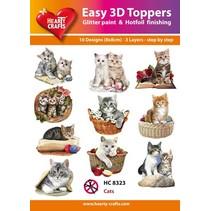 """3D motifs de poinçonnage Bastelset: """"Cats"""", 1 jeu = 10 motifs différents 3D!"""