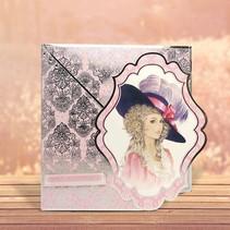 """Deluxe Bastelset med udstansede, flotte billeder og Luxury Designer pap """"My Fair Lady"""" Set No.1"""